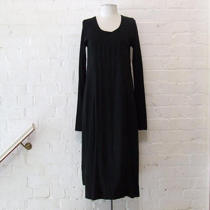 Nom D black merino-mix dress, size 8, $180 NZD