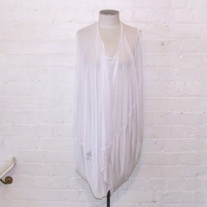 White parachute dress.