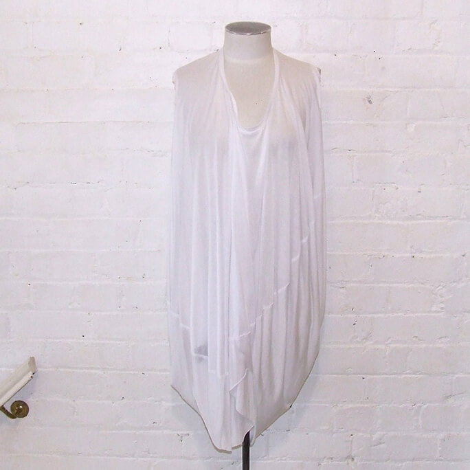 White parachute dress.