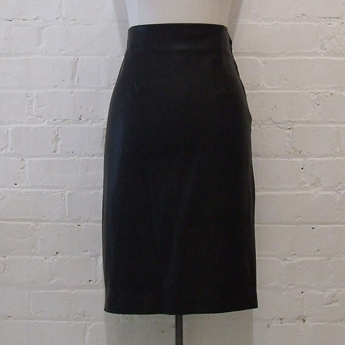 Zara leatherette pencil skirt, black