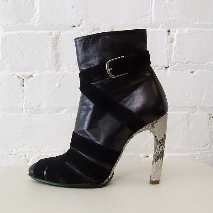 High heel ankle boots.