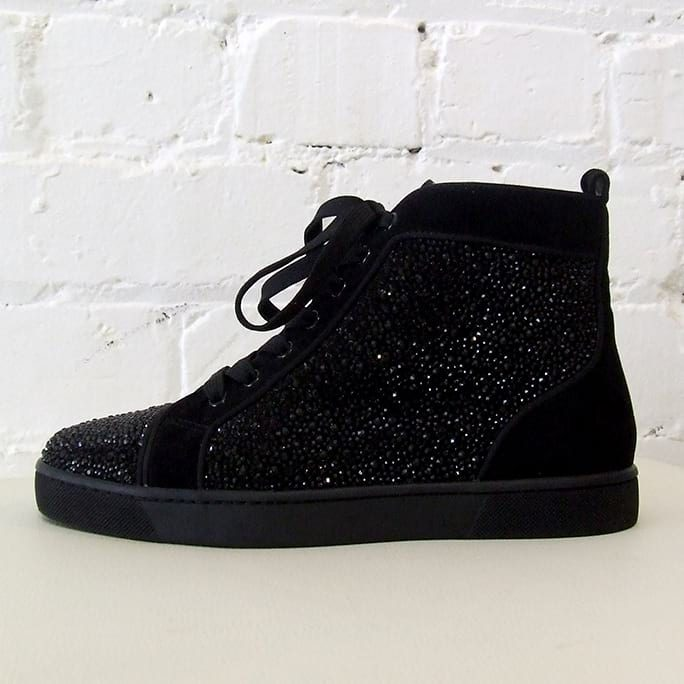 Magic sparkle sneakers with signature red sole. Unworn!