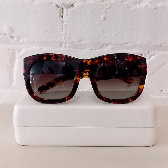 Air Lover sunglasses, tortoiseshell. Brand new, with case.