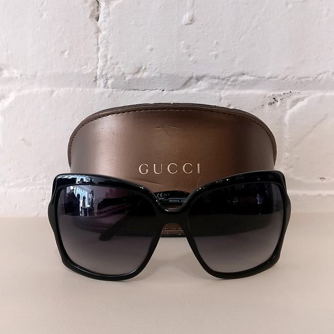 Sunglasses, with case.