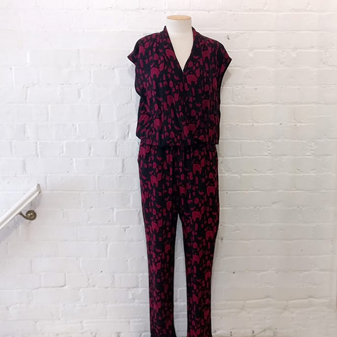 Jumpsuit with abstract print.