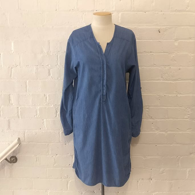 Chambray shirt dress.