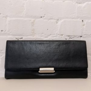 Leather clutch purse, with dustbag.