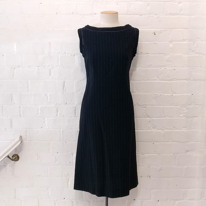 Sleeveless flare dress, unlined.