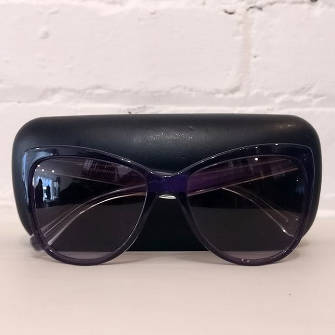 Catseye sunglasses, with case.