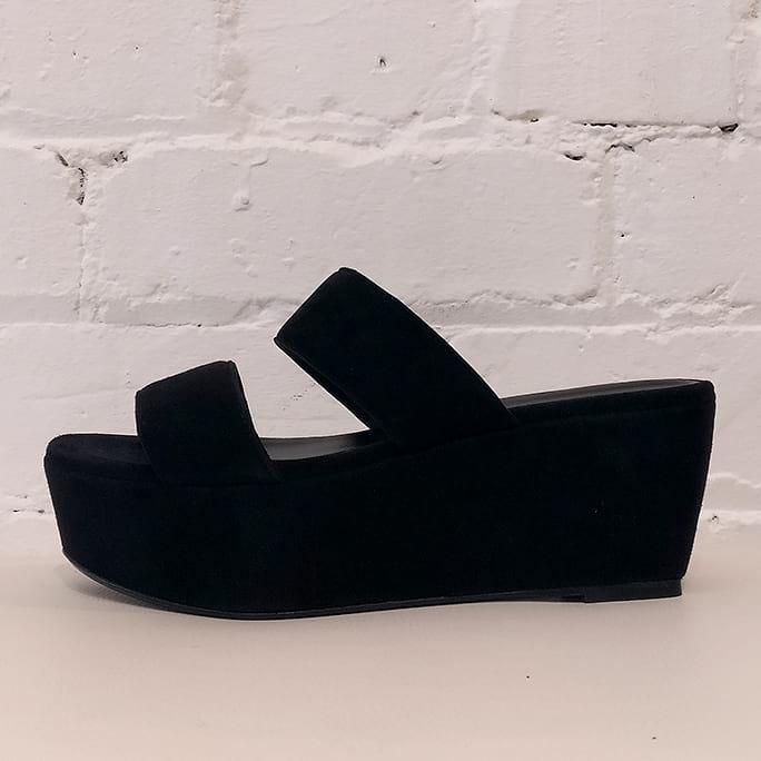 Nubuck platform sandals.