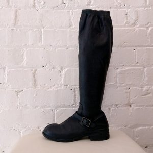 Super soft leather boot with buckle. Has original box.