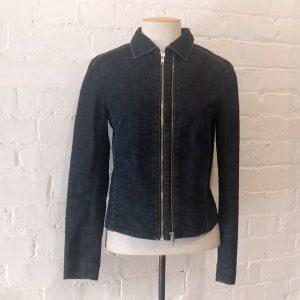 Denim jacket with pockets.
