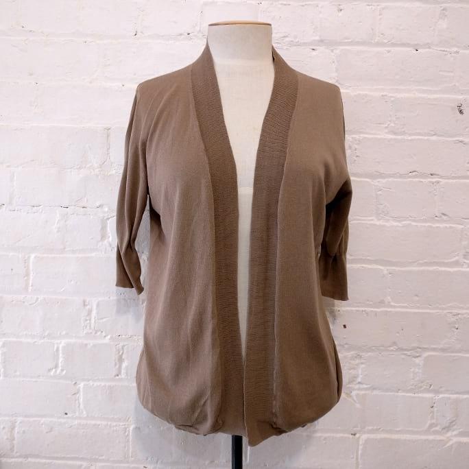 Short sleeve cotton cardigan.