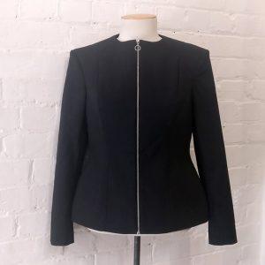 Black collarless Digital Love jacket. Original price tags still on!