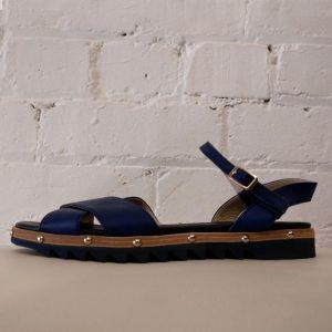 Indigo Italian sandals.