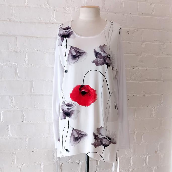 Floral print top.