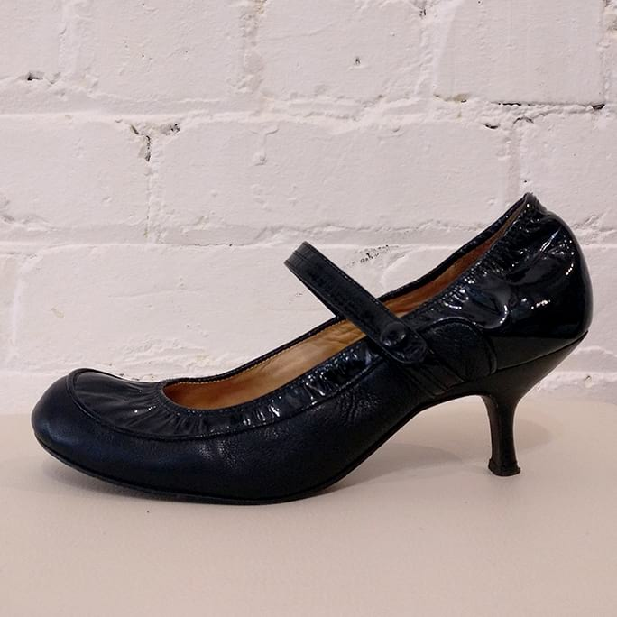 Mary Janes with kitten heel.