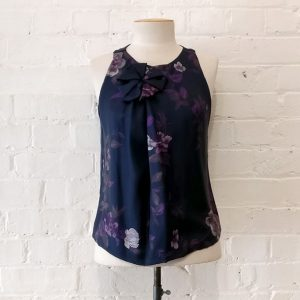 Lined silk top.