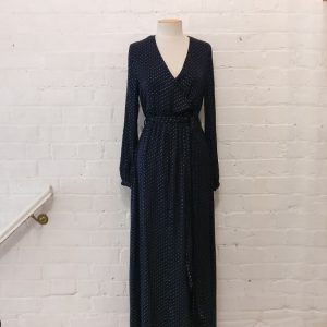 Silver dot Grecian maxi dress.Original price tags still on!