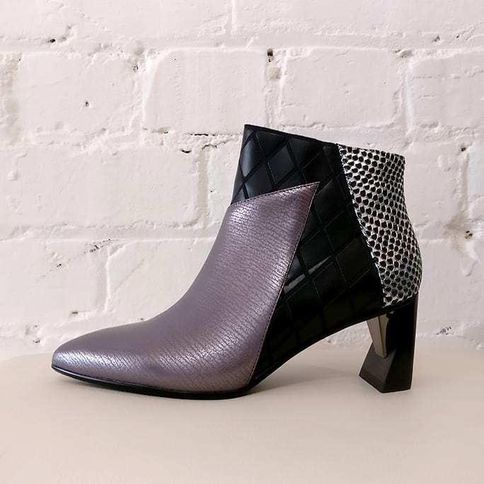 Zink Mid ankle boot. Unworn, with box.