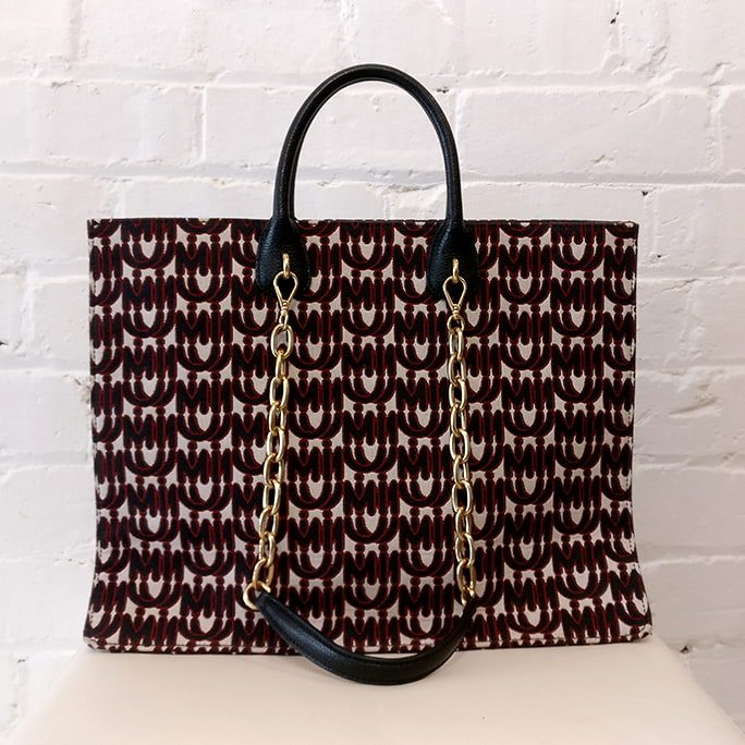 Monogram jacquard tote. Brand new & unused.