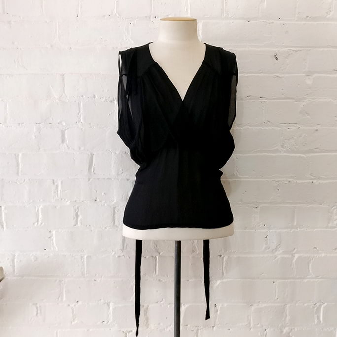 Camisole top with belt.
