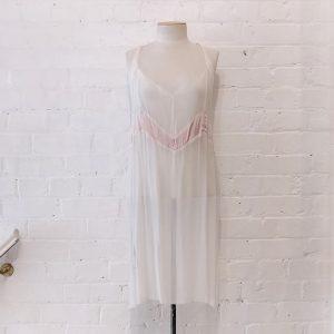 Slender slip dress.