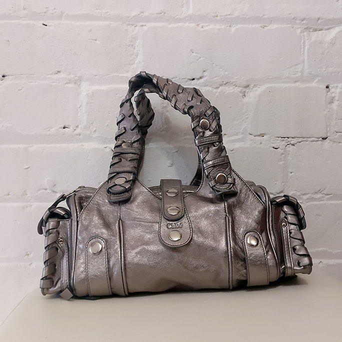 Vintage silver mini bag.