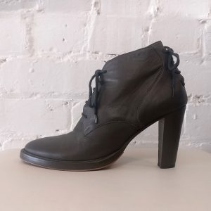 Leather lace-up shoe boots.