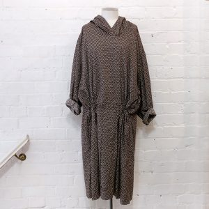 Drop-waist dress with hood and pockets. Original price tags still on.