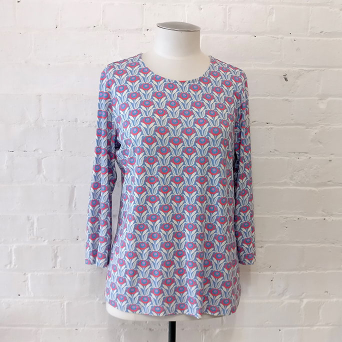 Long sleeve top with floral Liberty print.