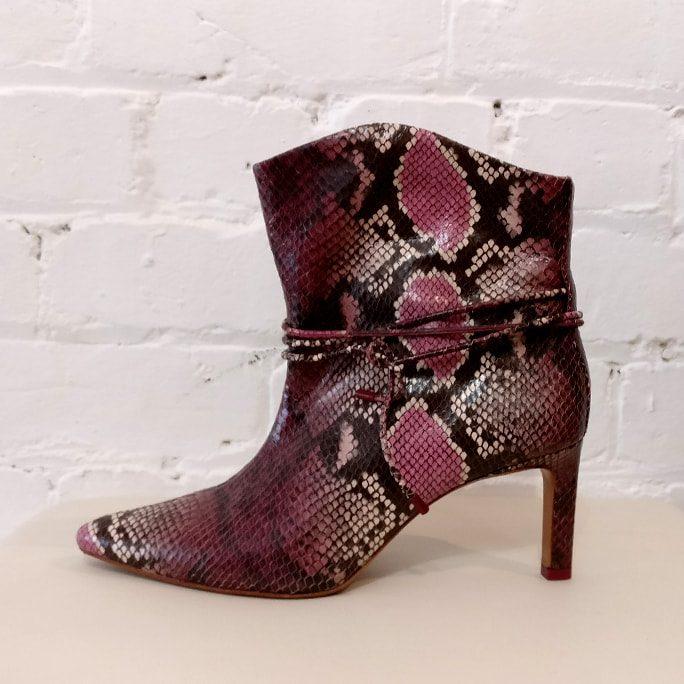 Snakeskin boots.