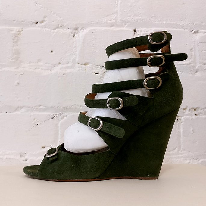 Wedge shoes.