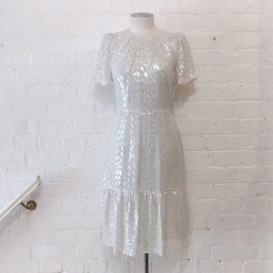 Sparkly silk dress.