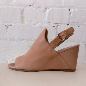 Peep-toe wedge.