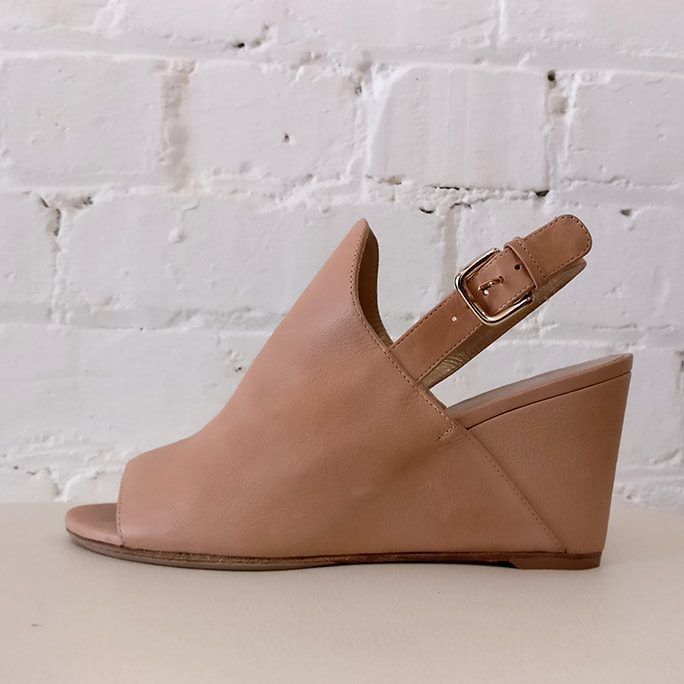 Peep-toe wedge.