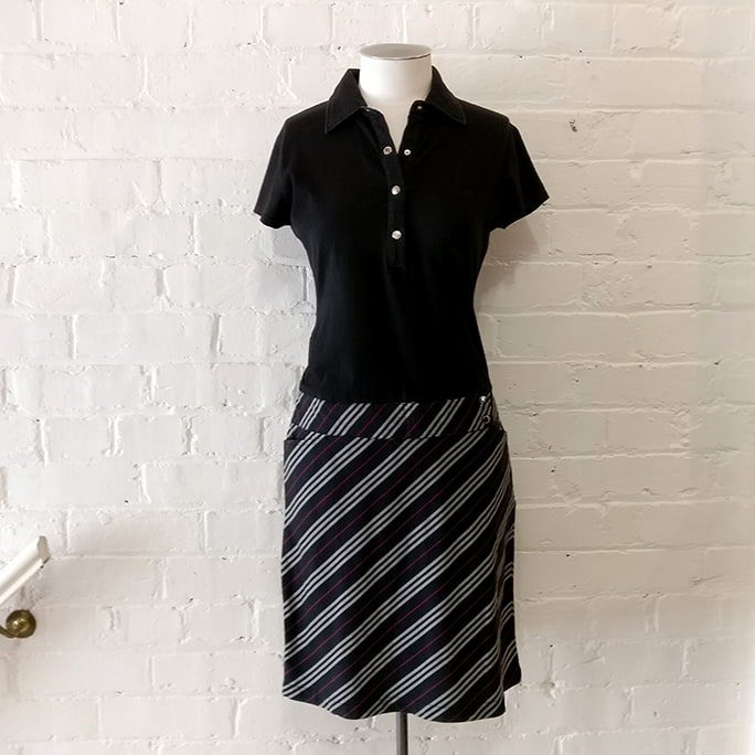 Tennis-style dress.