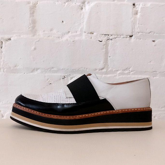 Platform loafer.