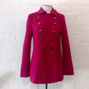 Hot pink short coat, lined.