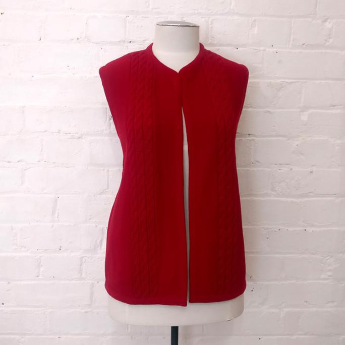 Vintage knitted vest.