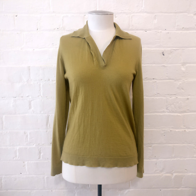 100% cashmere knit top.