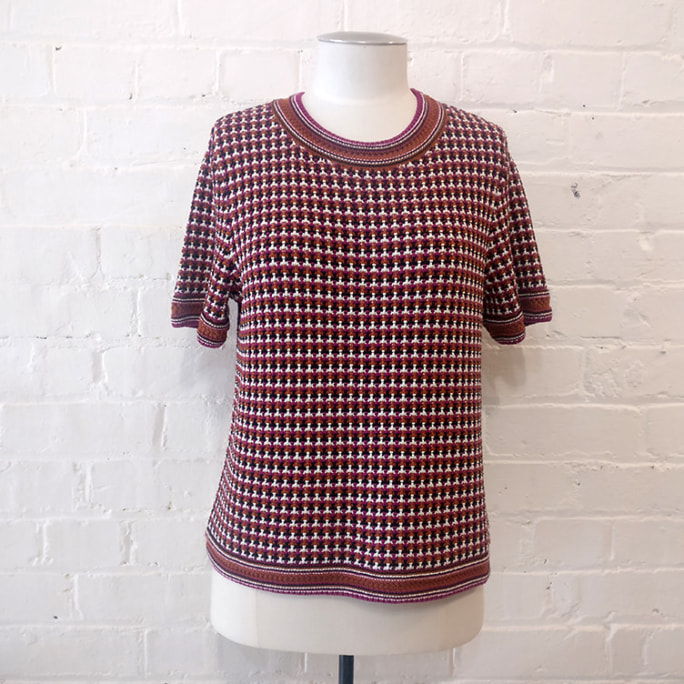 100% cotton weave top.