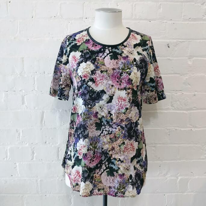 Floral cotton top.