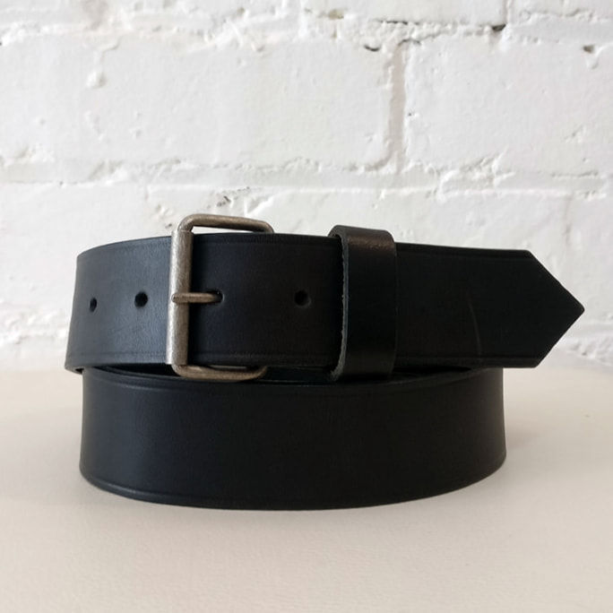 Leather belt.