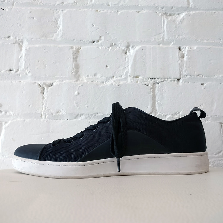 Leather-lined sneaker.