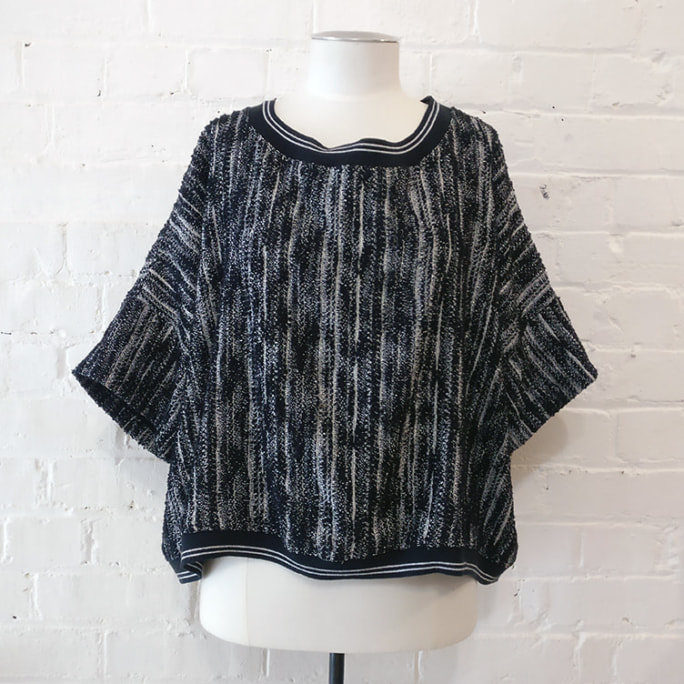 O.T.T woven cotton mix short sleeve top.
