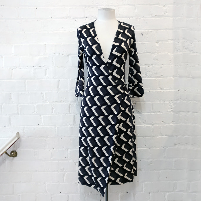 Classic wrap dress.