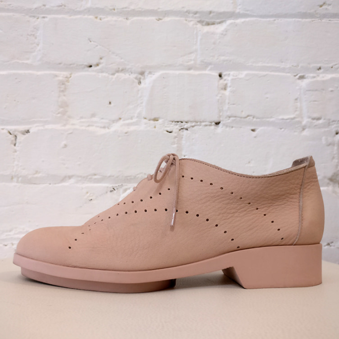 Soft leather lace-ups.