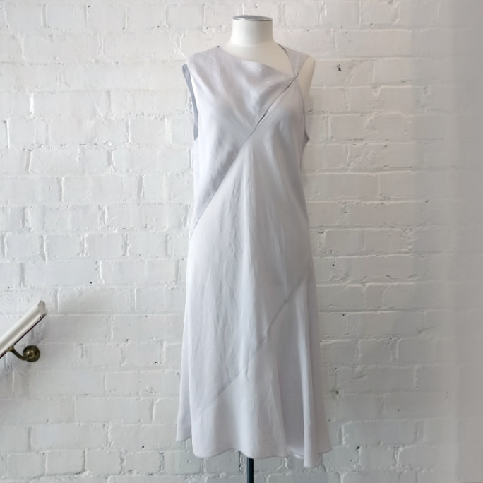 Bias-cut cotton dress.