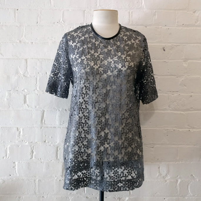Lace tee top.
